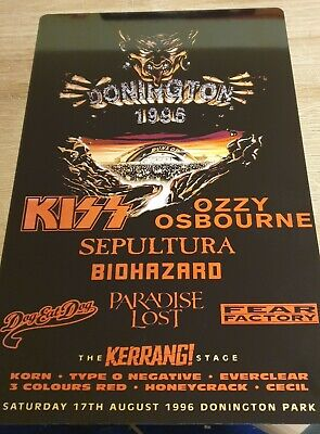Ozzy-kiss Monsters Of Rock Castle Donington 1996 8x12 Inch Metal Sign • 9.99£