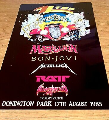 Zz Top-1985- Monsters Of Rock Castle Donington-metallica -bon Jovi- Metal Sign • 9.99£