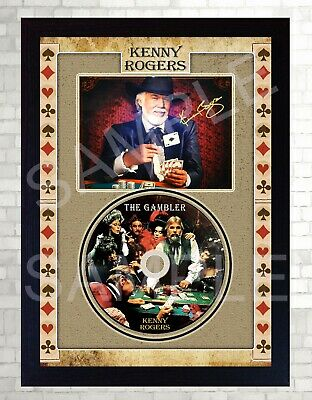 Kenny Rogers The Gambler SIGNED Photo Print Presentation CD DISC • 19.99£