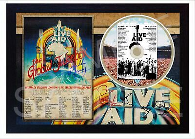Freddie Mercury Queen 1985 Art Print Poster Old Vintage Signed LIVE AID CD Disc  • 17.99£