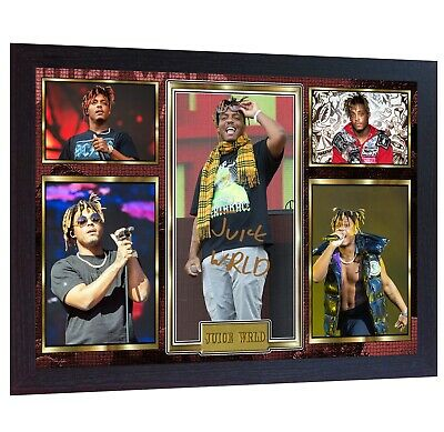 NEW! Juice Wrld Rap Music Framed Photo PRINT Signed Autograph POSTER Perfect  • 17.99£