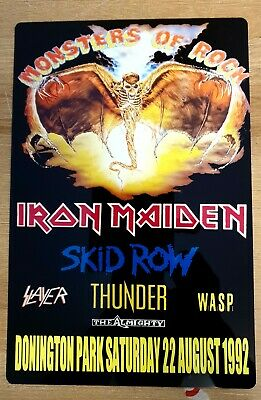 Iron Maiden Monsters Of Rock 1992 Castle Donington  8x12 Inch Metal Sign • 9.99£