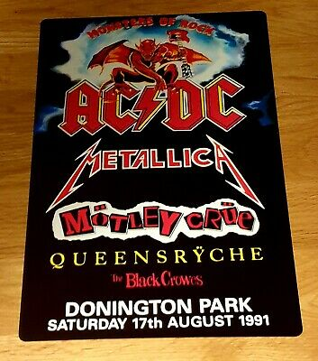 Acdc- Metallica -monsters Of Rock Castle Donington 1991 8x12 Inch Metal Sign • 8.99£