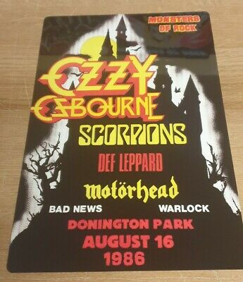 Ozzy-motorhead -monsters Of Rock Castle Donington 1986 8x12 Inch Metal Sign • 9.99£