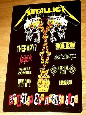 Metallica-slayer -monsters Of Rock Castle Donington 1995 8x12 Inch Metal Sign • 8.99£