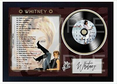 NEW! Whitney Houston The Greatest Hits MUSIC  SIGNED FRAMED PHOTO LP Vinyl  • 18.99£