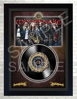 NEW! Whitesnake David Coverdale MUSIC  SIGNED FRAMED PHOTO LP Vinyl Great Gift • 18.99£