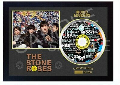 NEW The Stone Roses SIGNED FRAMED Print CD Disc Perfect Gift • 19.99£