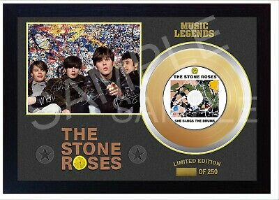 New The Stone Roses Mini Gold Vinyl CD Record Signed Framed Photo Print  • 19.99£