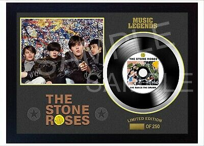 New The Stone Roses MUSIC  SIGNED FRAMED PHOTO Print And Mini LP Vinyl  • 19.99£