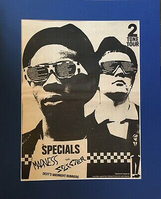 2 Tone Tour - Specials, Madness, Dexys Etc - Advert/poster- In Quality Mount • 29.99£
