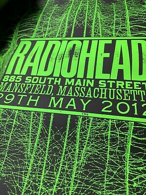 RARE Radiohead 2012 MANSFIELD, Massachusetts Poster Only 400 Exist. • 212.79£