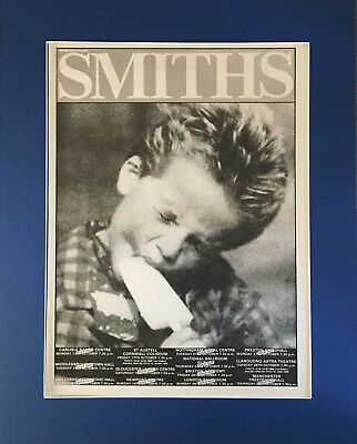 The Smiths - Early Tour Advert/poster- In Quality Mount • 29.99£