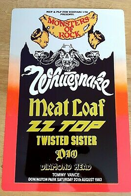 Whitesnake Zztop Dio Monsters Of Rock Castle Donington 1983 8x12 Inch Metal Sign • 9.99£