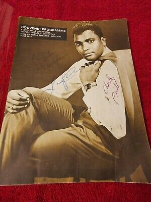 Charley Pride Hand Signed Autograph Tour Programme And 2 Other Signatures • 40£