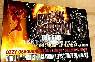 Black Sabbath The End Uk Tour 8x12 Metal Sign • 9.99£