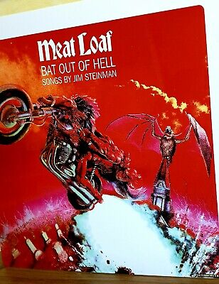 Meatloaf - Bat Out Of Hell - 12x12 Inch Metal Sign • 14.99£