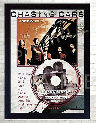 Snow Patrol Chasing Cars Eyes Open SIGNED Autographed FRAMED PHOTO CD Disc  • 19.99£