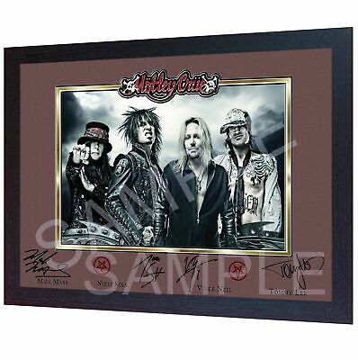 NEW Motley Crue  Framed Print  Signed Autograph PRINT POSTER Perfect Gift  • 19.99£