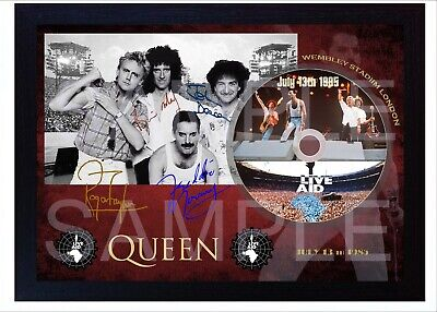 QUEEN Freddie Mercury MUSIC LIVE Aid SIGNED FRAMED PHOTO CD  • 17.99£