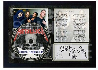 NEW Metallica Nothing Else Matters SIGNED Autographed FRAMED PHOTO CD Disc  • 19.99£