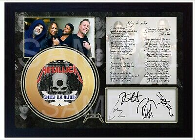NEW! Metallica Nothing Else Matters Mini Gold Vinyl CD Record Signed Framed #1 • 19.99£