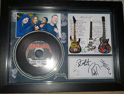 Metallica Nothing Else 3 Miniature Guitars And Mini LP Shadow Box Signed Photo • 34.99£