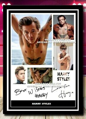 (#452) Harry Styles Signed A4 Photo//framed (reprint) Great Gift @@@@@@@@@@@@@@ • 5.99£