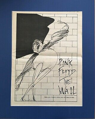 Pink Floyd - The Wall - Original LP Vinyl Advert/poster- In Quality Mount • 29.99£