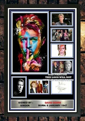 (#420) David Bowie Signed A4 Photo//framed (reprint) Great Gift @@@@@@@@@@@@@@@@ • 5.99£