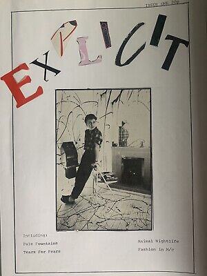 Explicit Fanzine 1980s, The Smiths, Julian Cope, Tears For Fears,Thompson Twins • 200£