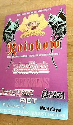 1980 Monsters Of Rock Castle Donington Rainbow Judas Preist 8x12 Inch Metal Sign • 8.99£