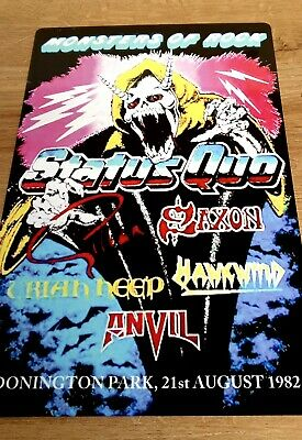 1982 Monsters Of Rock Castle Donington Status Quo Saxon. 8x12 Inch Metal Sign • 9.99£