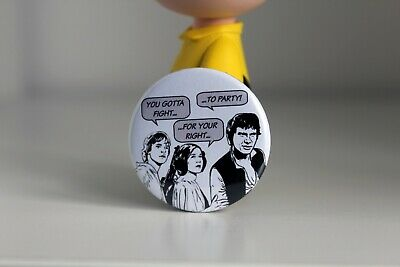 Star Wars X Beastie Boys Badge - 38mm Pin Button - Fight For Your Right To Party • 1.80£