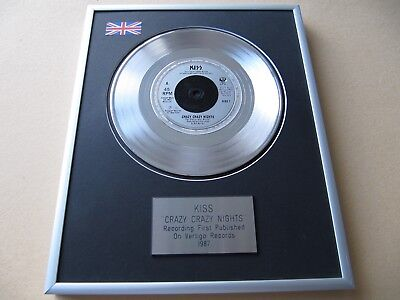 KISS Crazy Crazy Nights PLATINUM PRESENTATION DISC • 59£
