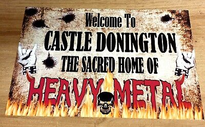 Monsters Of Rock Castle Donington  8x12  Metal Sign • 9.99£