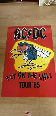 Ac/dc Fly On The Wall Tour 1985  8x12  Metal Sign • 9.99£