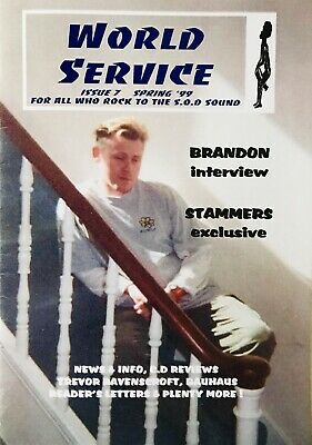 "Spear Of Destiny/Theatre Of Hate Fanzine ""World Service"" Issue 7 • 5£"