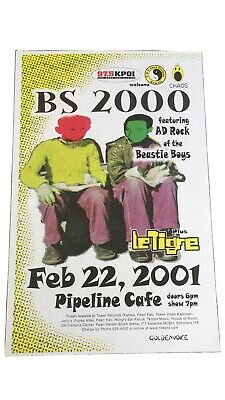 Bs 2000 Featuring Ad Rock Of The Beastie Boys 2001 Original Hawai Concert Poster • 37£