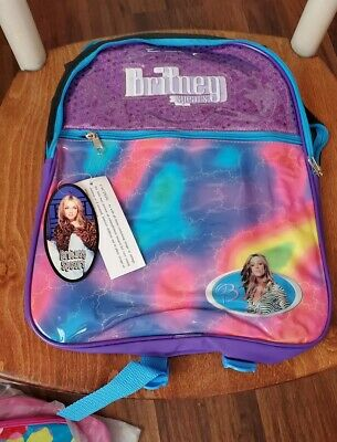 Britney Spears Vintage Backpack NWT 2001 Pyramid For Girls • 47.63£