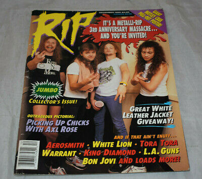 Rip Magazine December 1989 Metallica Cover Rare With Poster Loose Bindings • 14.30£