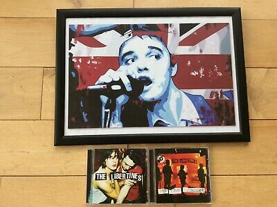 Pete Doherty Framed Print With Libertines Cd's • 11£