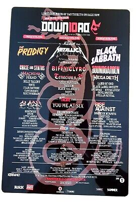 Download Festival 2012 Metallica Black Sabbath 8x12 Inch Metal Sign • 9.99£
