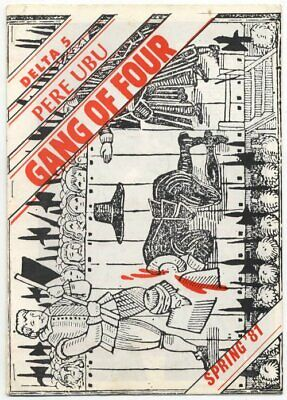 Gang Of Four Pere Ubu Delta 5 1981 Programme • 40£