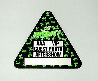 Original Unused The Prodigy Aaa Backstage Pass With Intact Peel & Stick Backing • 22£