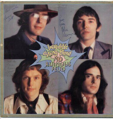 Incredible String Band No Ruinous Feud Signed Album Cover 1973 • 100£