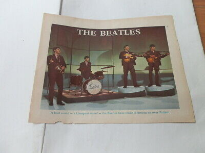 Vintage Early 1960's Music Magazine Clipping  The Beatles & Richard Chamberlain • 0.99£