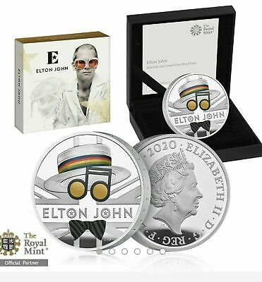 2020 1oz Elton John UK One Ounce Silver Proof Coin Limited Edition 7500 In Hand  • 127.50£
