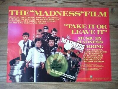 Madness - Take It Or Leave It Film Book + Poster And 2 Flexidiscs - EX CON • 20£