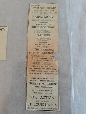1966 SHEFFIELD KING MOJO MODS SMALL FACES, THE ACTION, CHRIS FARLOWE Orig Advert • 9.99£